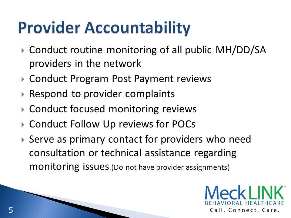 Provider Accountability