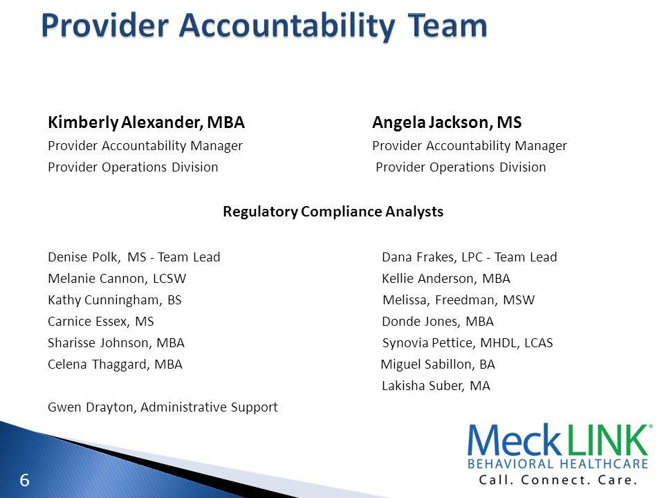 Provider Accountability Team