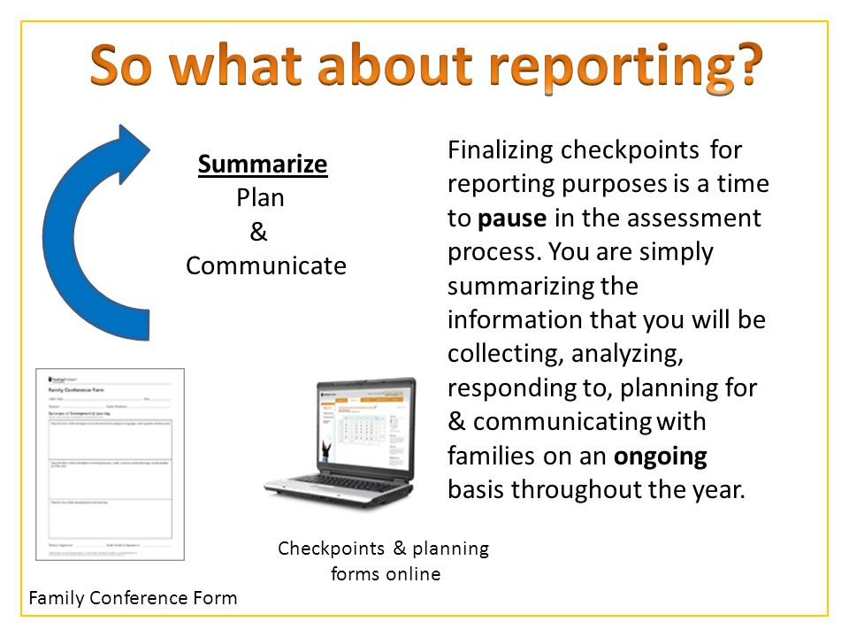 So what about reporting
