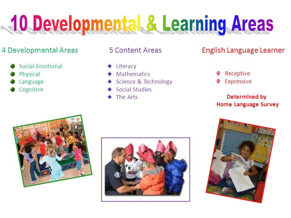 10 Developmental & Learning Areas
