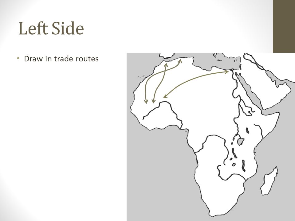 Left Side Draw in trade routes