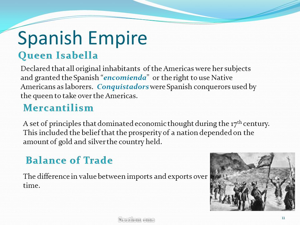Spanish Empire Queen Isabella Mercantilism Balance of Trade