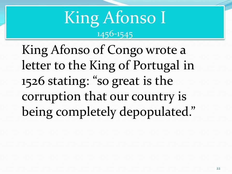 King Afonso I 1456-1545.
