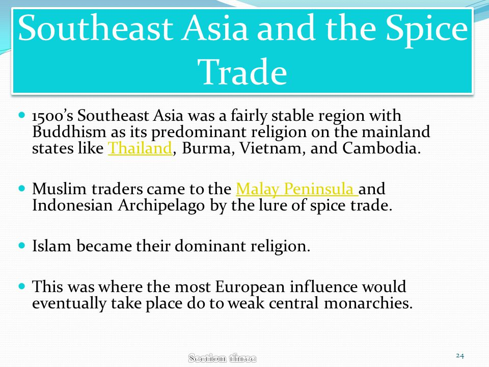 Southeast Asia and the Spice Trade
