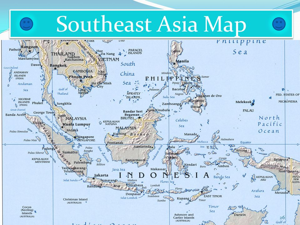 Southeast Asia Map Section three