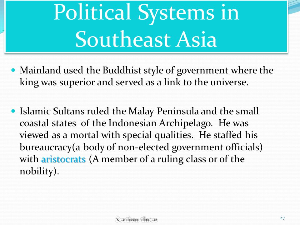 Political Systems in Southeast Asia