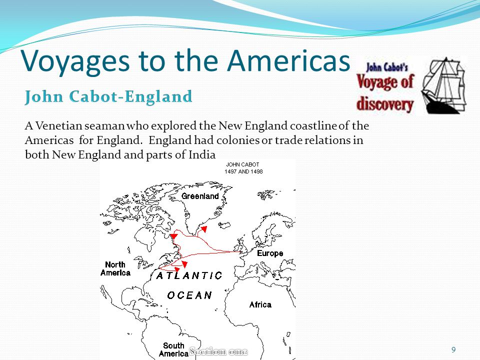Voyages to the Americas