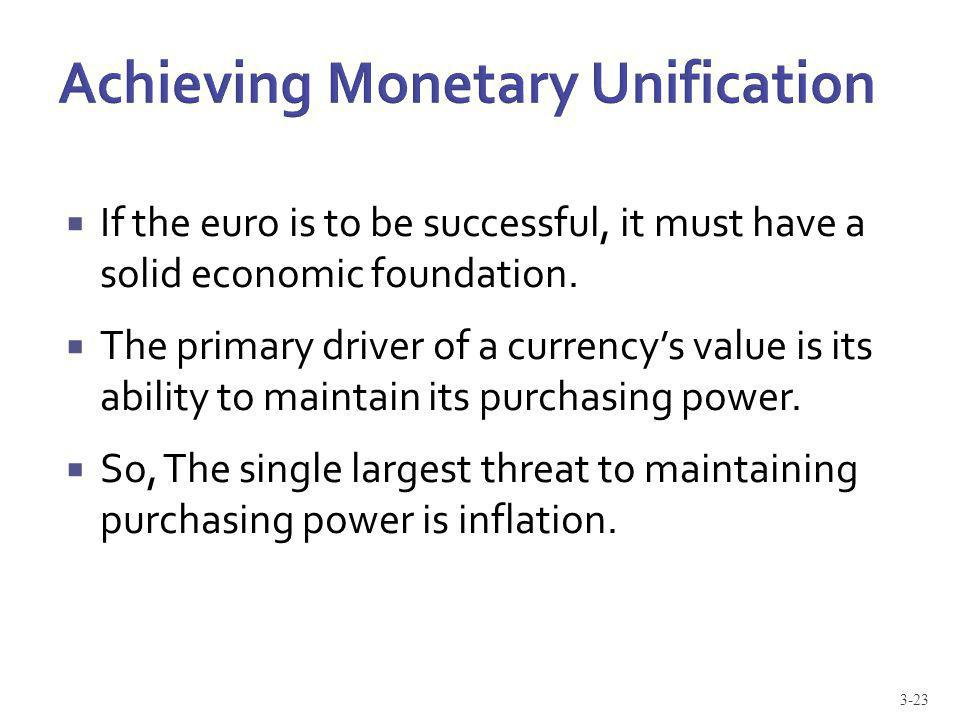 Achieving Monetary Unification