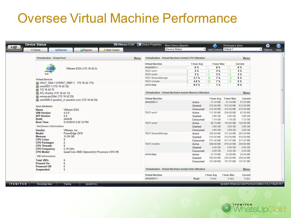 Manage Virtualized Servers' Performance