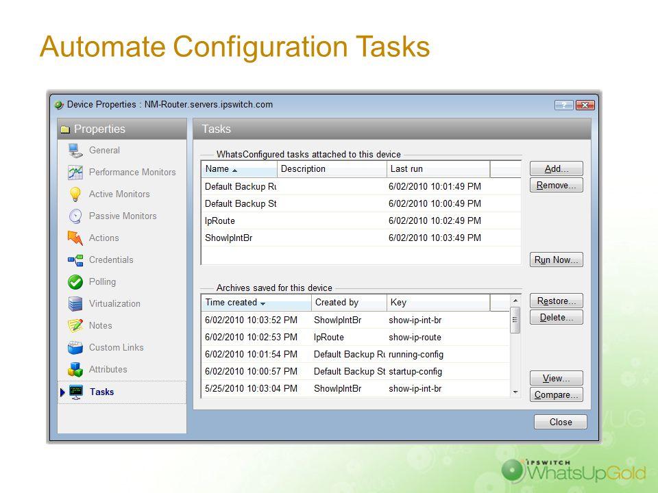 WhatsUp WhatsConfigured Capabilities