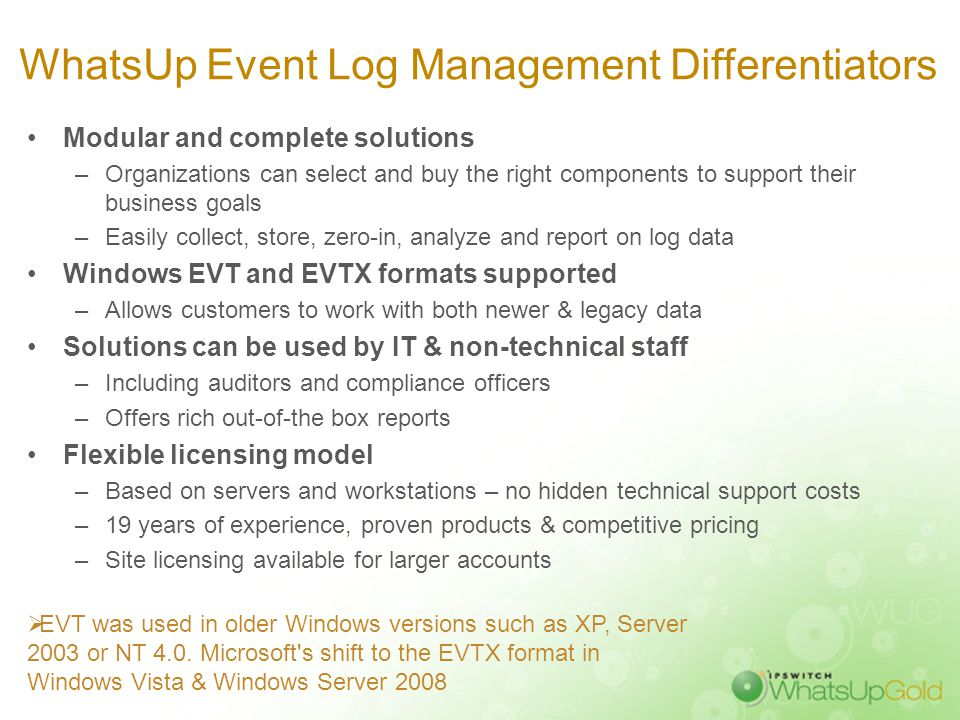 WhatsUp Gold Event Log Management Suite