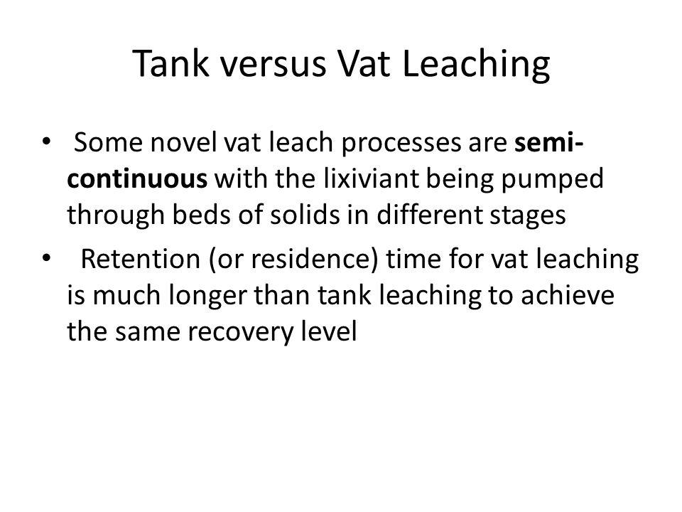 Tank versus Vat Leaching