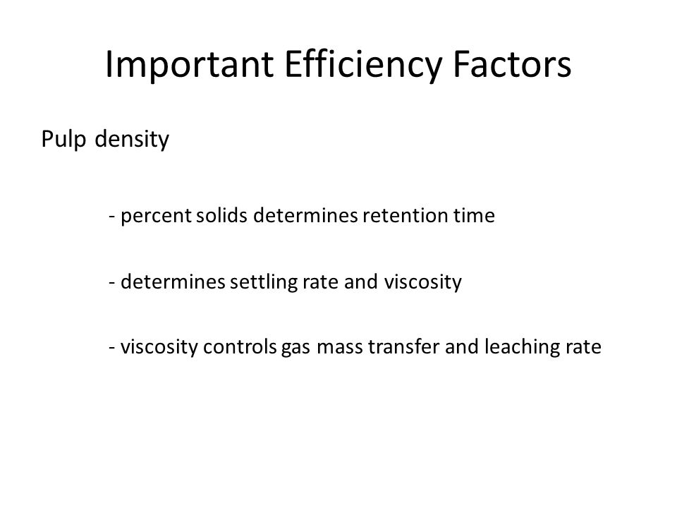 Important Efficiency Factors