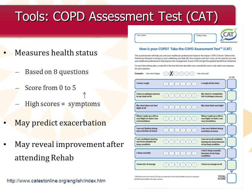 Tools: COPD Assessment Test (CAT)