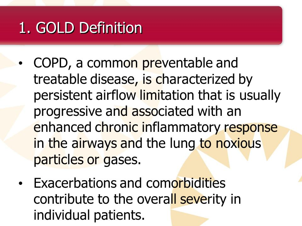 1. GOLD Definition