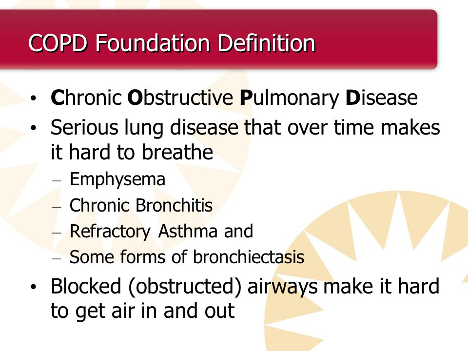 What are COPD guidelines?