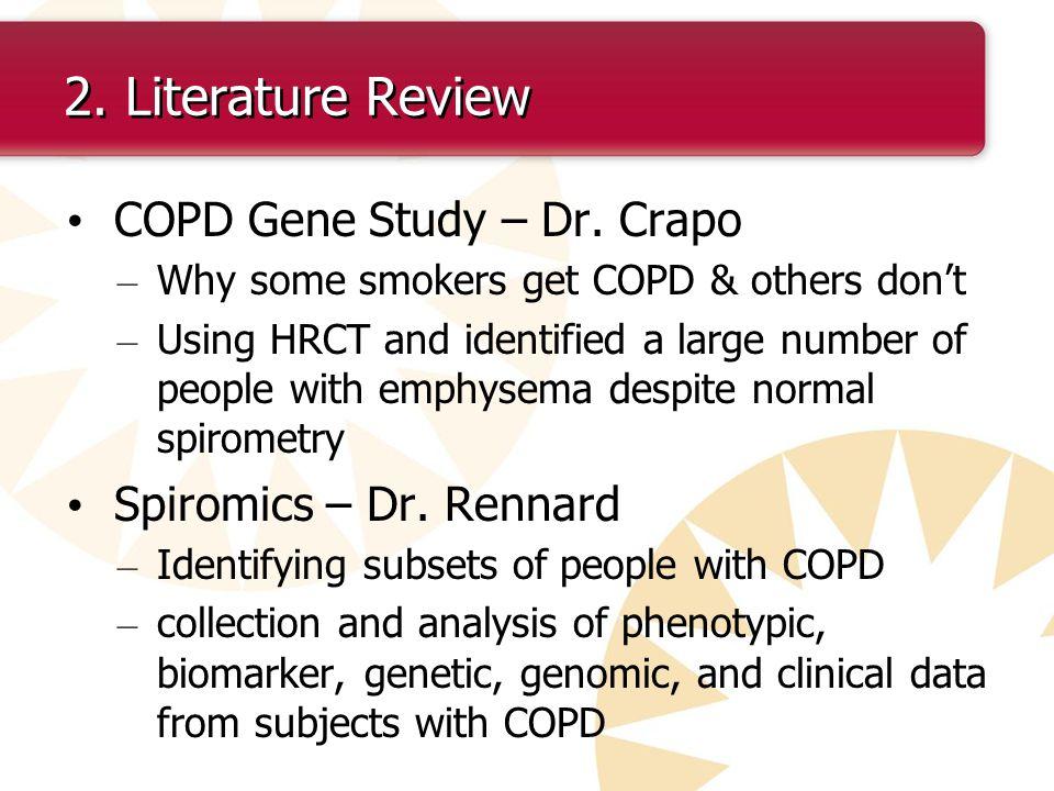 2. Literature Review COPD Gene Study – Dr. Crapo