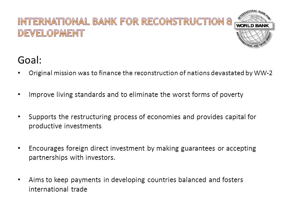 International Bank for Reconstruction & Development