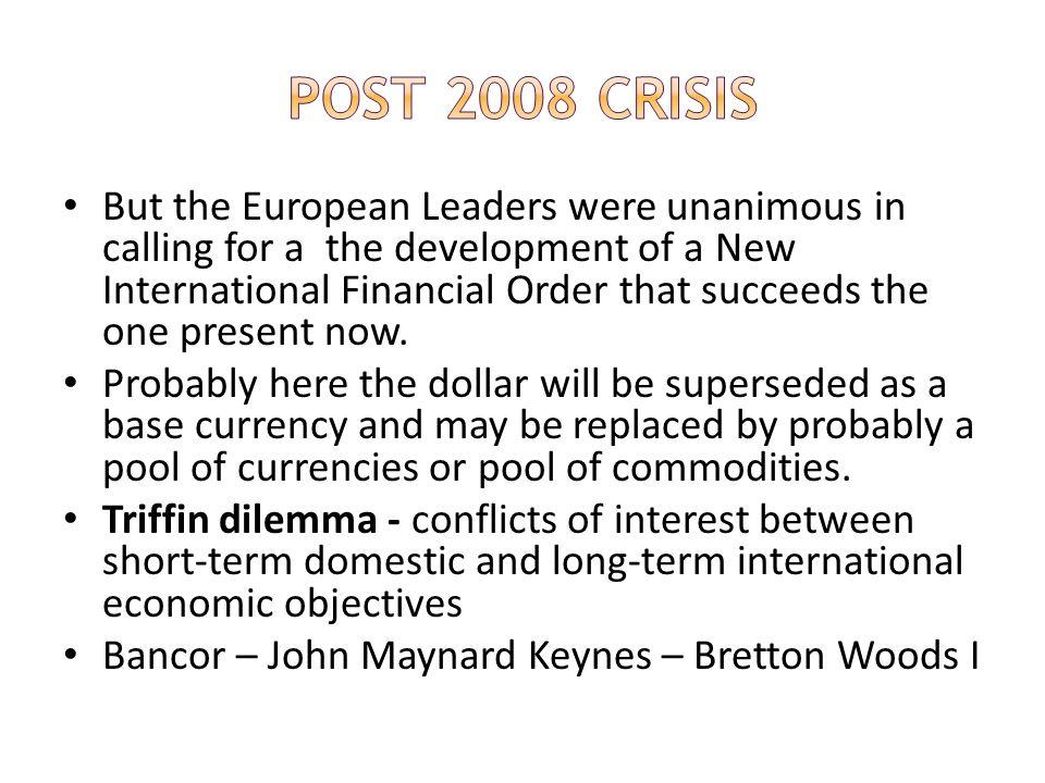 Post 2008 Crisis