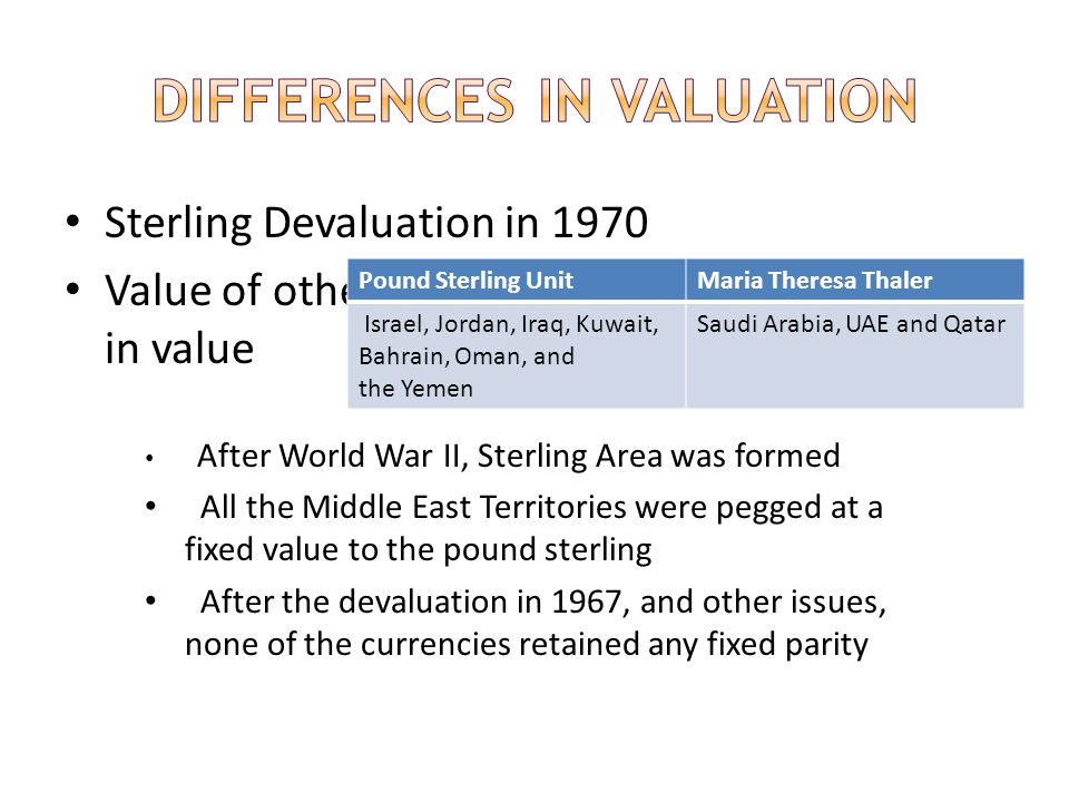 Differences in Valuation