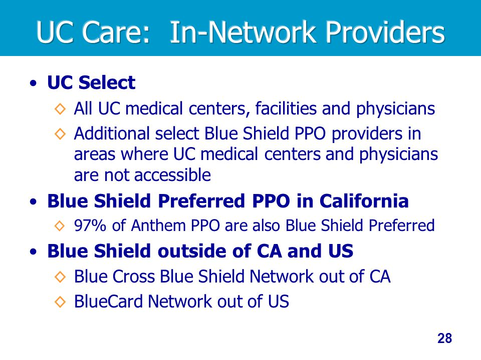 UC Care: In-Network Providers