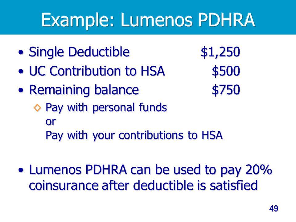 Example: Lumenos PDHRA