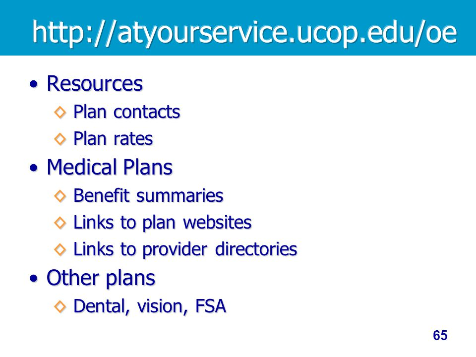 Resources Medical Plans Other plans