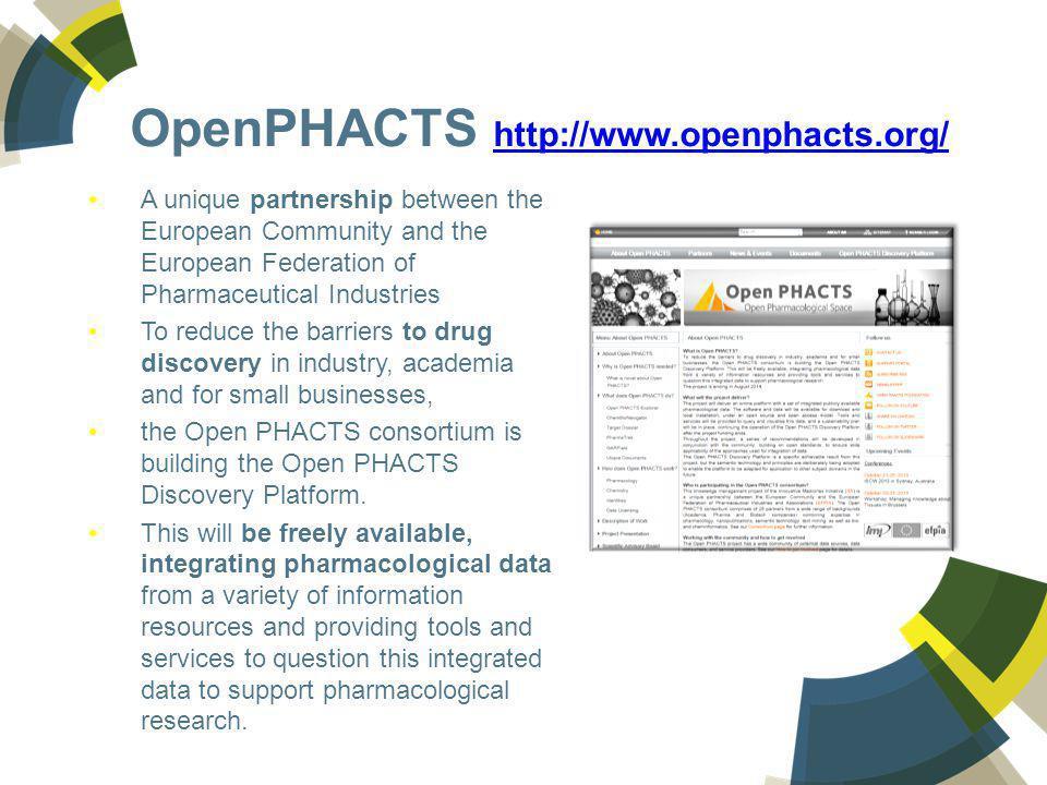 OpenPHACTS http://www.openphacts.org/