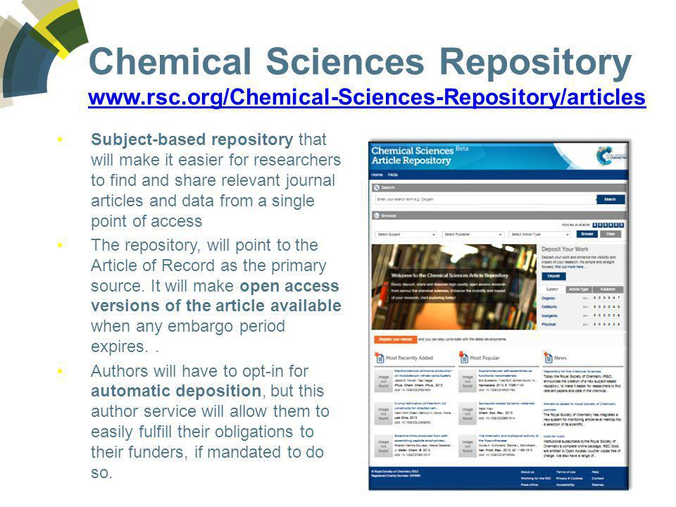 Chemical Sciences Repository www. rsc