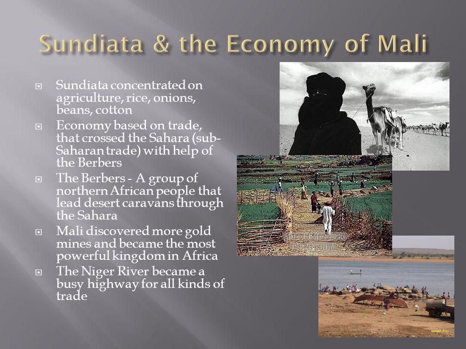 Sundiata & the Economy of Mali