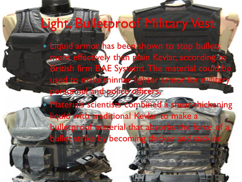 Light, Bulletproof Military Vest