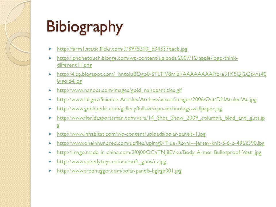 Bibiography http://farm1.static.flickr.com/3/3975200_b34337dacb.jpg