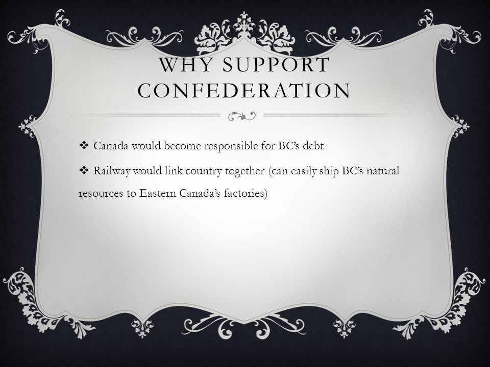 Why Support Confederation