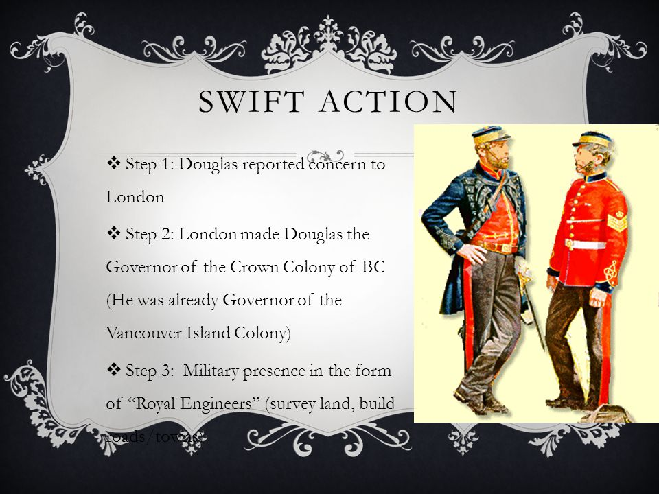 Swift Action Step 1: Douglas reported concern to London