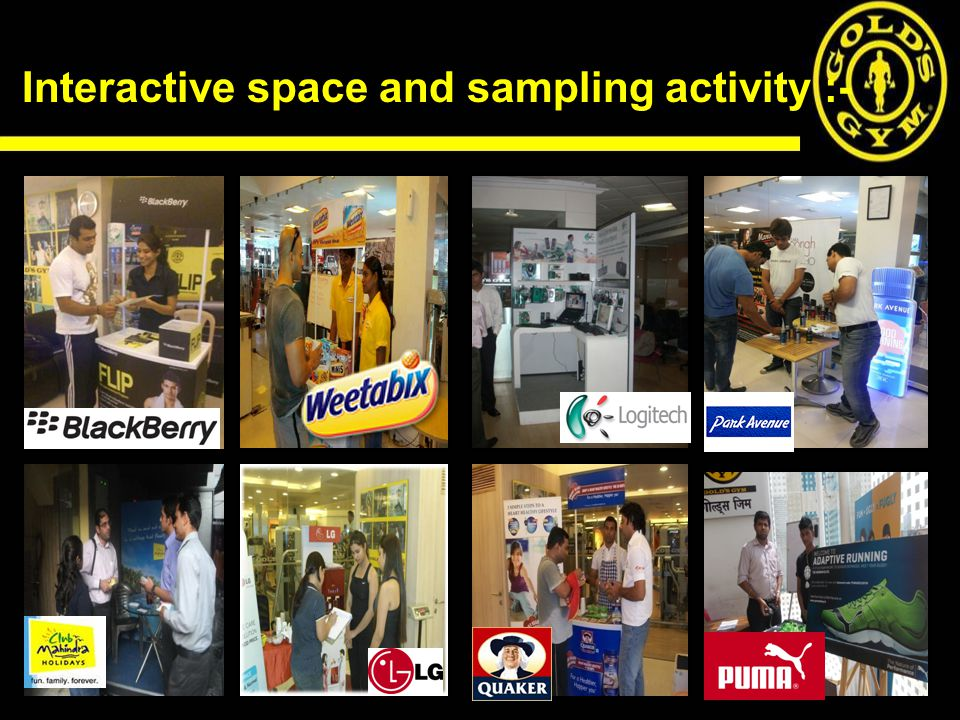 Interactive space and sampling activity :-