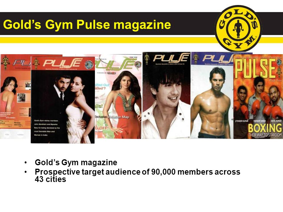 Gold's Gym Pulse magazine