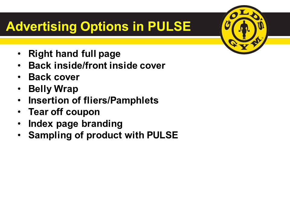 Advertising Options in PULSE
