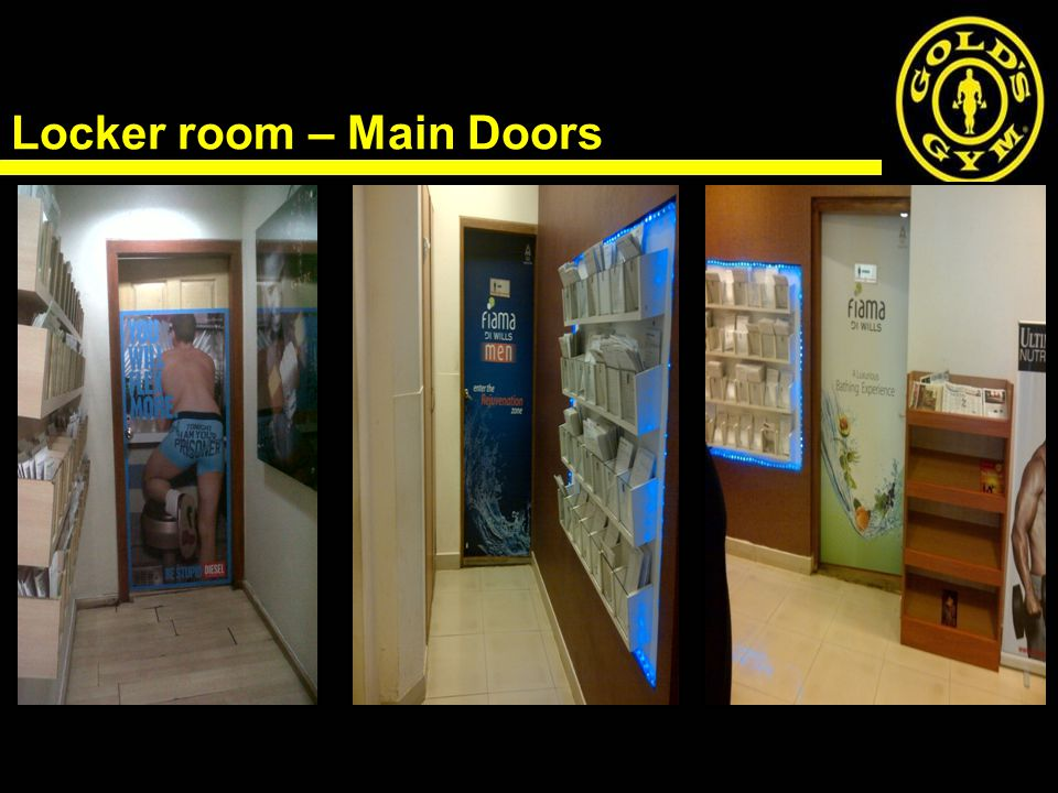 Locker room – Main Doors