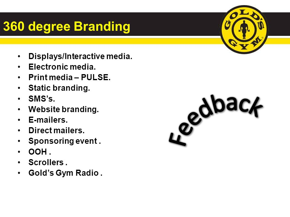 Feedback 360 degree Branding Displays/Interactive media.