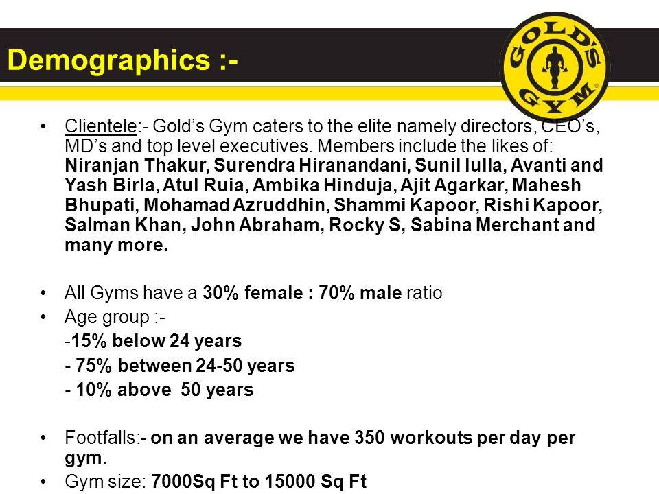 Demographics :-