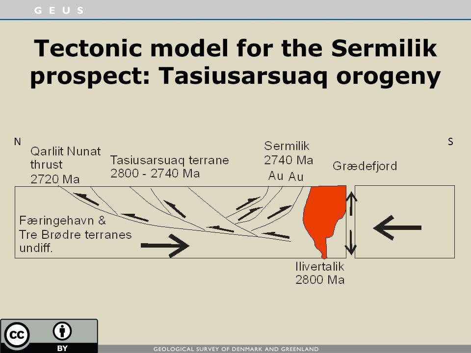 Tectonic model for the Sermilik prospect: Tasiusarsuaq orogeny