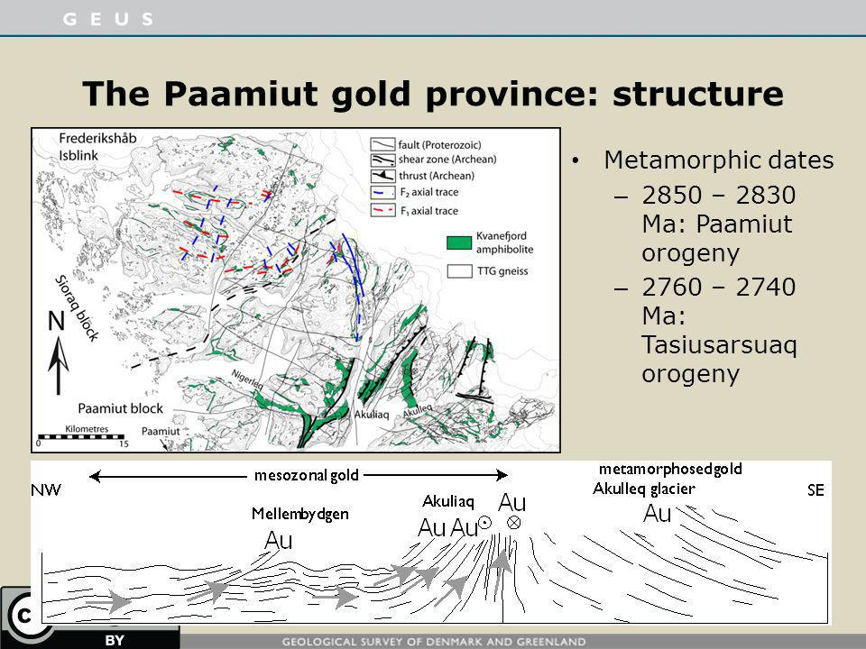 The Paamiut gold province: structure