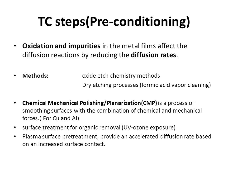 TC steps(Pre-conditioning)