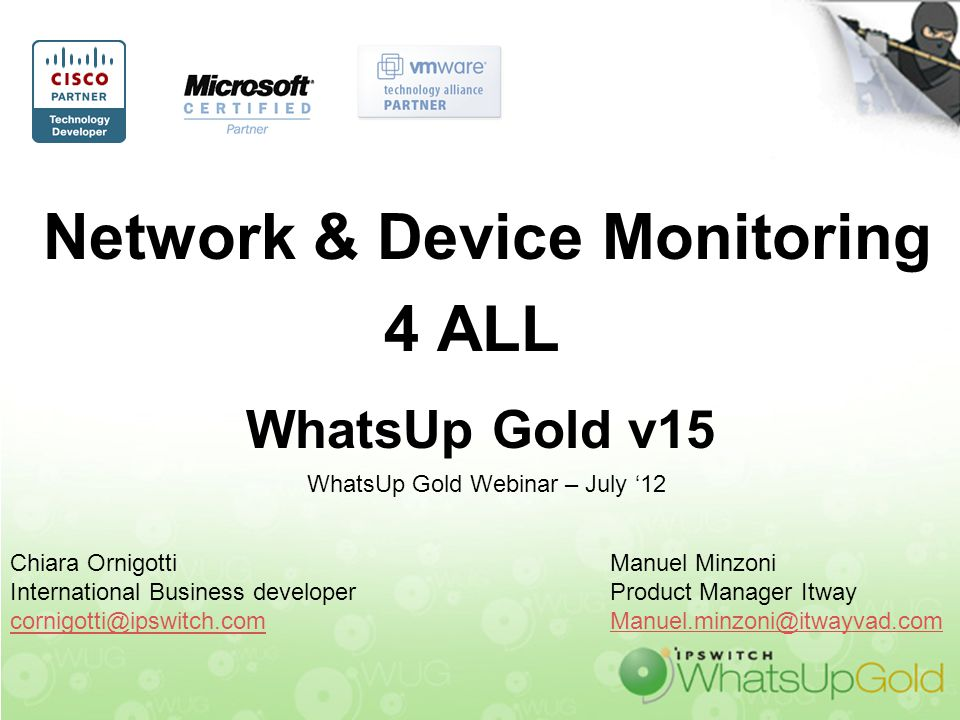 Network & Device Monitoring 4 ALL WhatsUp Gold v15