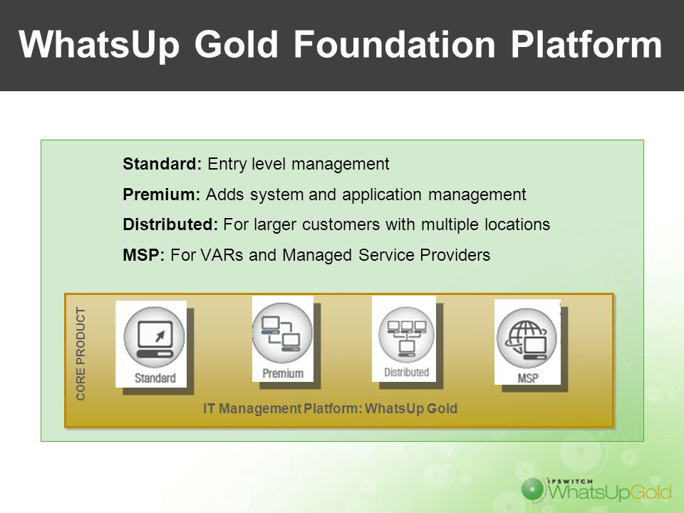 WhatsUp Gold Foundation Platform