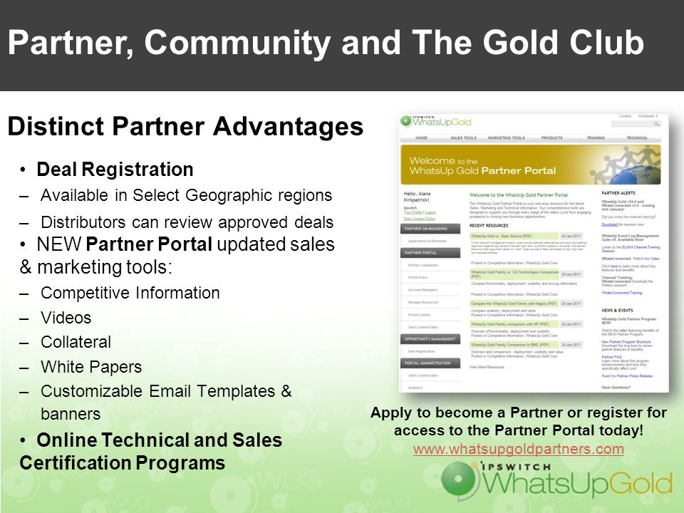Partner, Community and The Gold Club