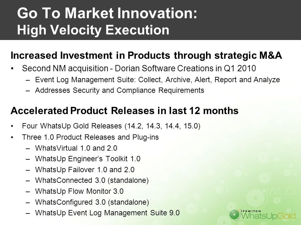 Go To Market Innovation: High Velocity Execution