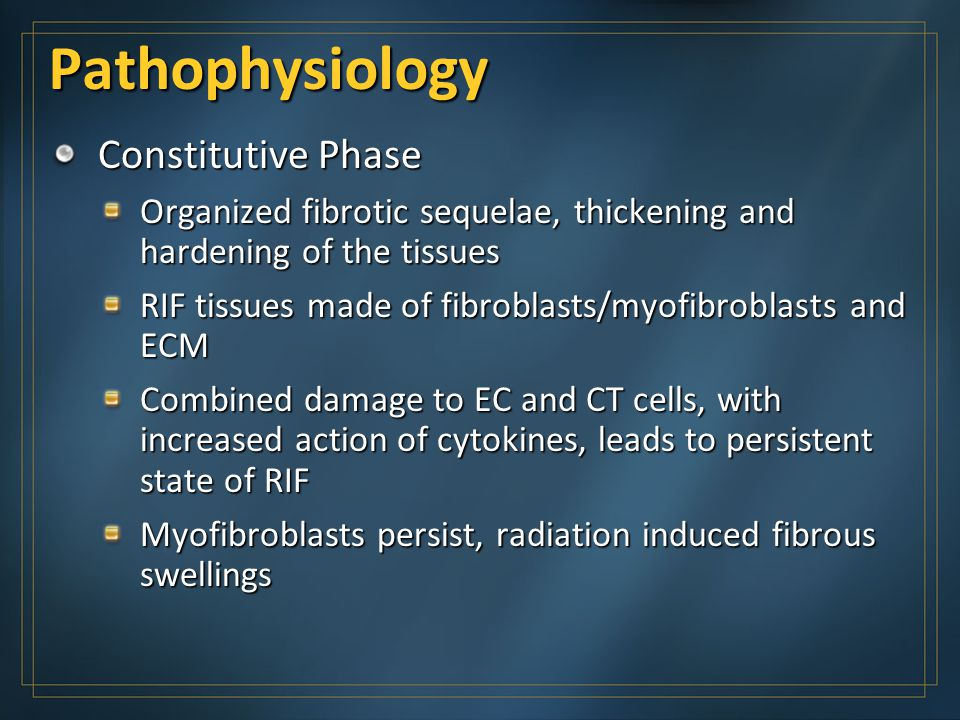 Pathophysiology Constitutive Phase