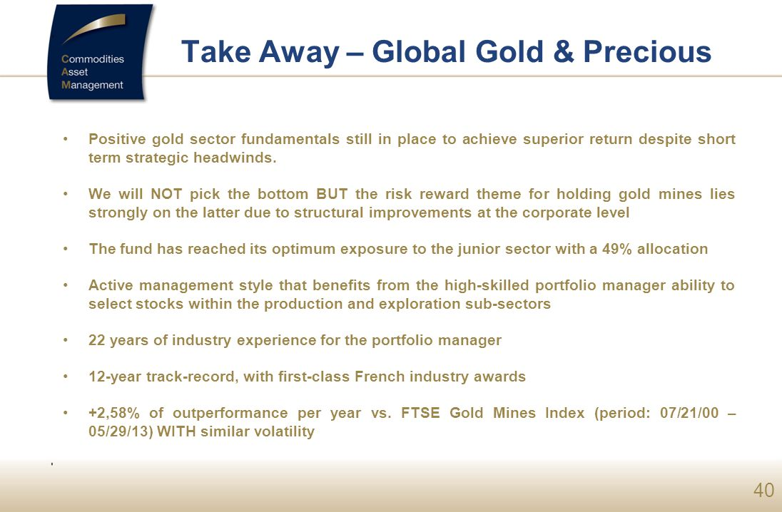 Take Away – Global Gold & Precious