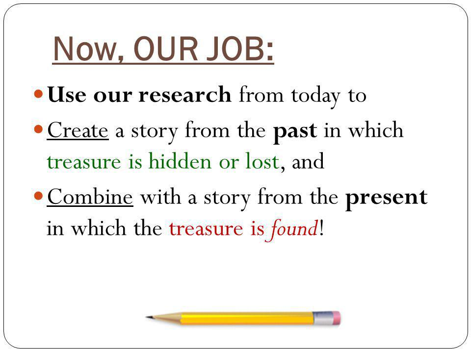 Now, OUR JOB: Use our research from today to